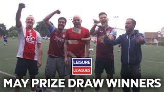 ALL Prize Draw Winners - May | Leisure Leagues