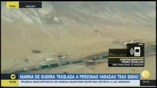 RPPTV: Marina de Guerra traslada personas varadas tras sismo