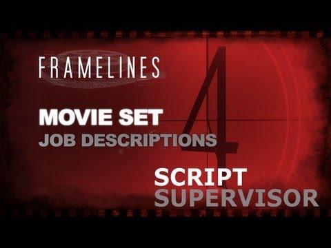 Movie Set Job Description - Script Supervisor/Continuity