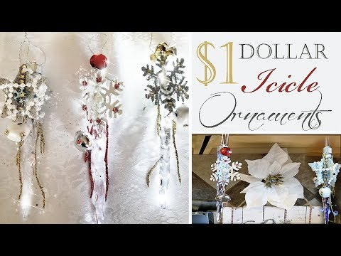 Dollar Tree Icicle Ornaments