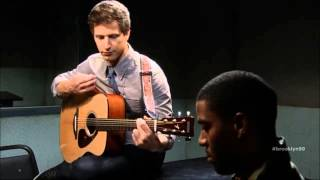 jake peralta playing guitar   andy samberg   brooklyn nine nine