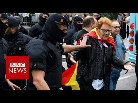 Catalonia referendum: Violence as police block voting- BBC News