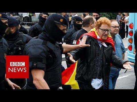 Catalonia referendum: Violence as police block voting- BBC News