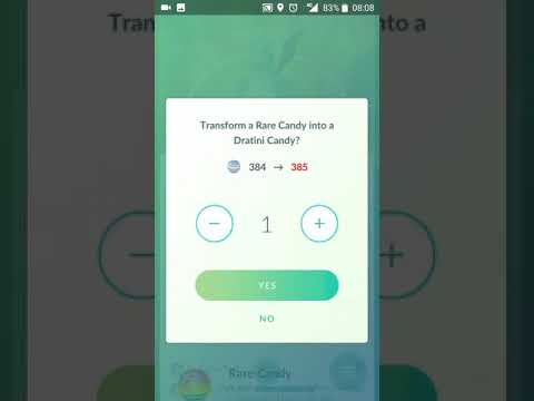 New Items option on Pokémon screen