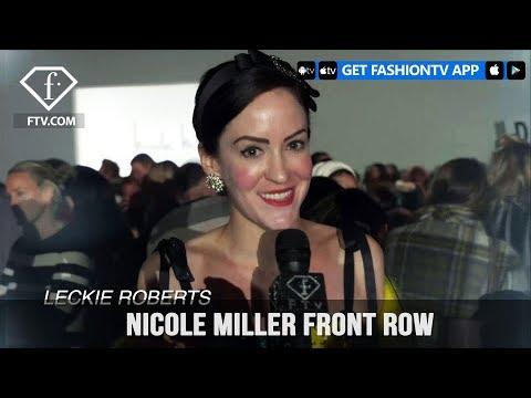 New York Fashion Week Fall/Winter 18 19 - Nicole Miller Front Row | FashionTV | FTV