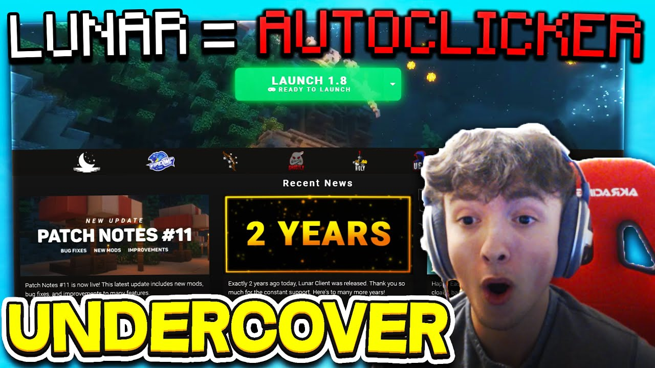 Using Lunar AUTOCLICKER on an ALT ACCOUNT to Bypass Staff members!