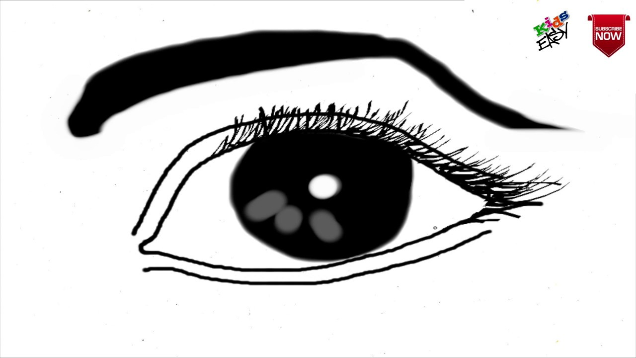 How To Draw Realistic Eye For Kids Episode 3 Youtube