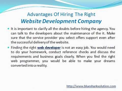 Advantages of hiring the right website development company