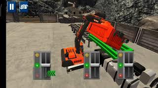 Mengendarai truck excavator: mengangkut peti kemas dan mobil mini. Game play simulator. screenshot 4