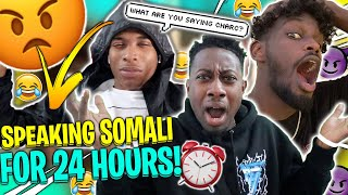 speaking ONLY SOMALI for the whole day challenge ! ft. TY AND T.O