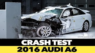 2016 Audi A6 CRASH TEST IIHS Small Overlap [GOOD]