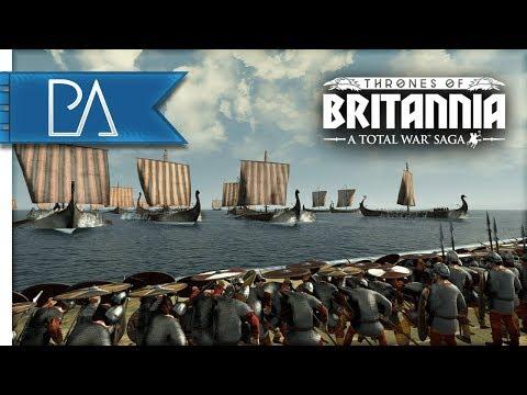 VIKING SEA KING INVASION: SIEGE BATTLE - Thrones of Britannia: Total War Saga Gameplay