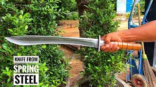 THE AMAZING SKILL OḞ KNIFE MAKER/HOW TO MAKE A LONG KNIFE