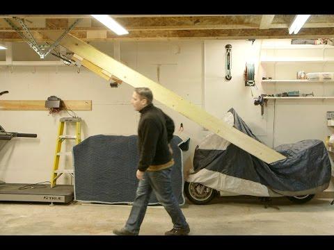 Retracting Garage Stairs & Hoist Lift