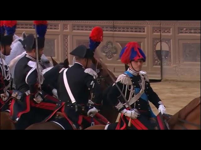 Il drappello dei carabinieri a cavallo - Palio 16 agosto 2018