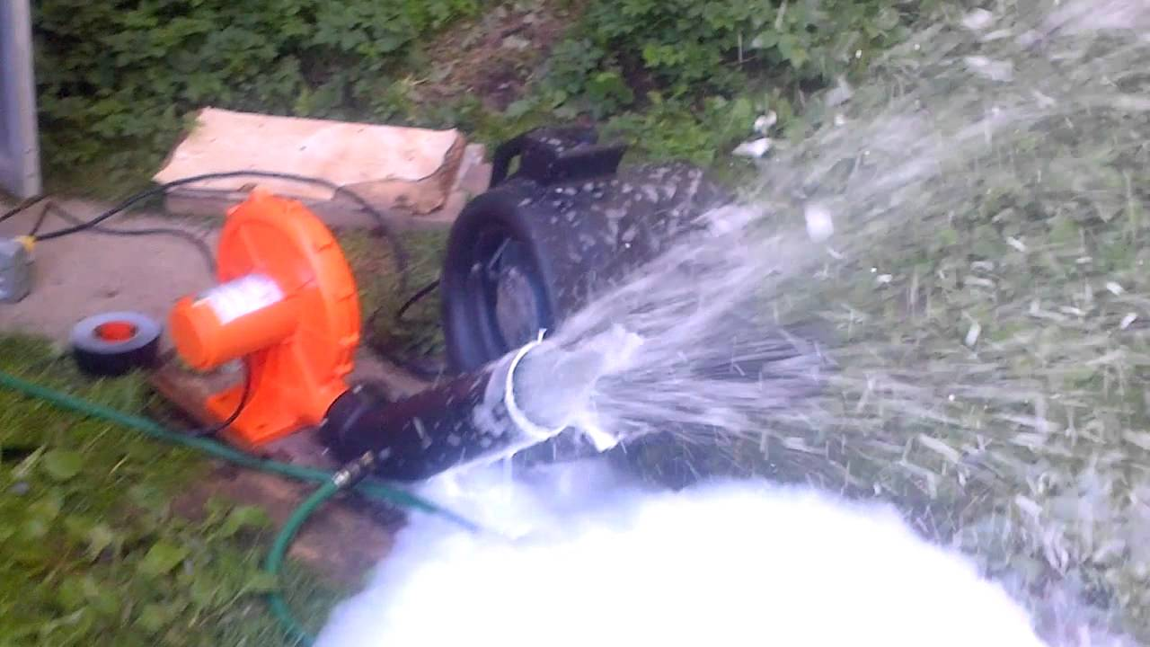 Foam Cannon Soap >> DJ GaryB Snow Foam Machine Test #1 Success! - YouTube