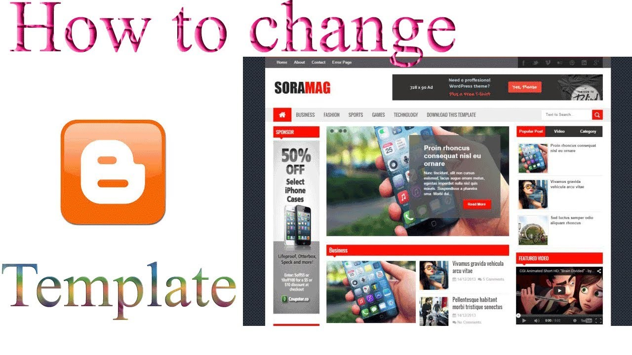 How To Change Blogger Templates Full Tutorial 2018 Youtube