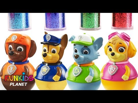 Thumbnail: Learn Colors Video For Kids: Paw Patrol Uses Rainbow Bath Paints & Glitter Disney & Toy Surprises