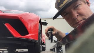 Exotic car Lamborghini towing Footage towtrucker exotic cars