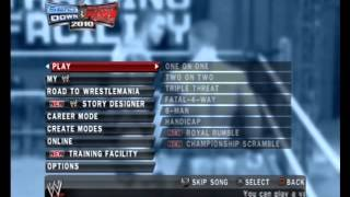 WWE Smackdown vs Raw 2010 Menu Music