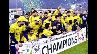 Psl Today Win Peshawar Zalmi 2017!!