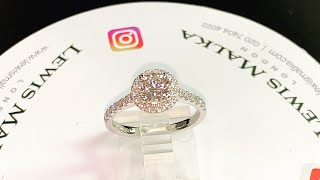 Beautiful halo diamond engagement ring ❤️