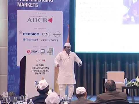 Dr. Pawan G. Agarwal talking about Mumbai's Dabbawalas at the 3rd PAN IIM Gulf Summit in Dubai