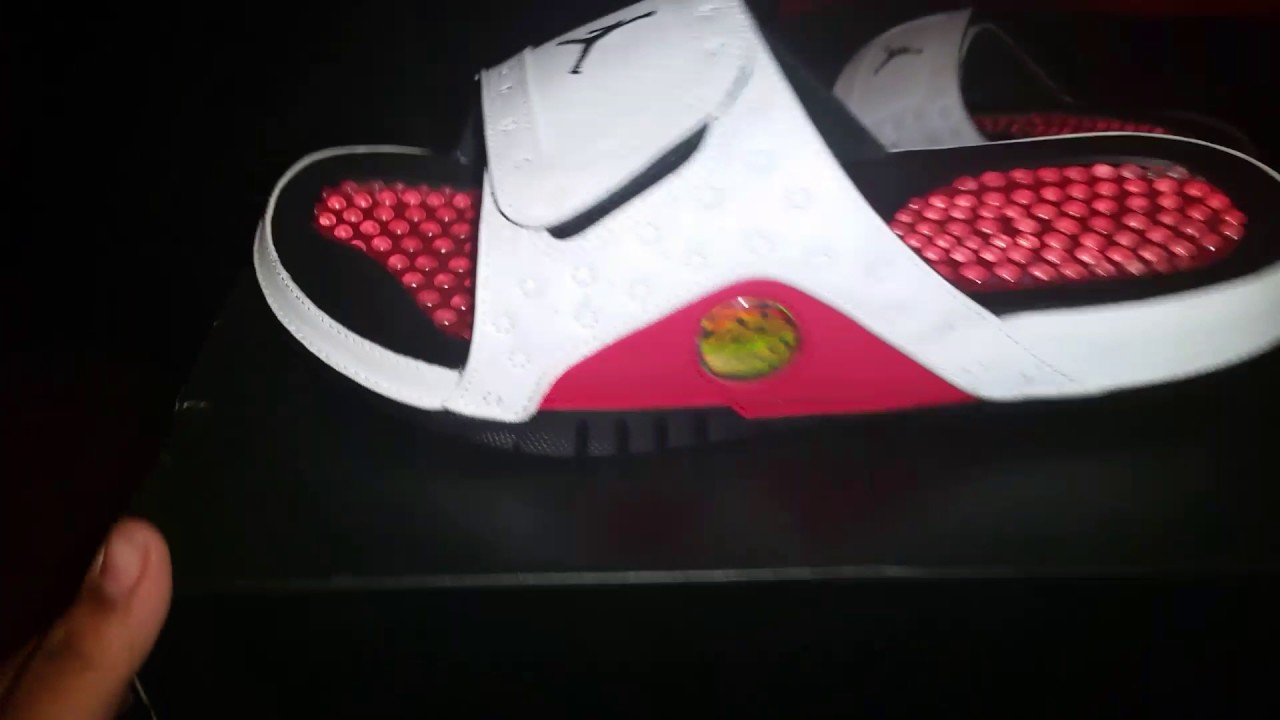 5a141b714ebf Air jordan 13 chicago sandals unboxing - YouTube
