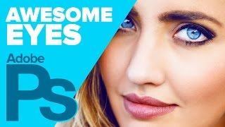 How to Create Awesome Eyes in Photoshop! Extreme Photoshop Makeover