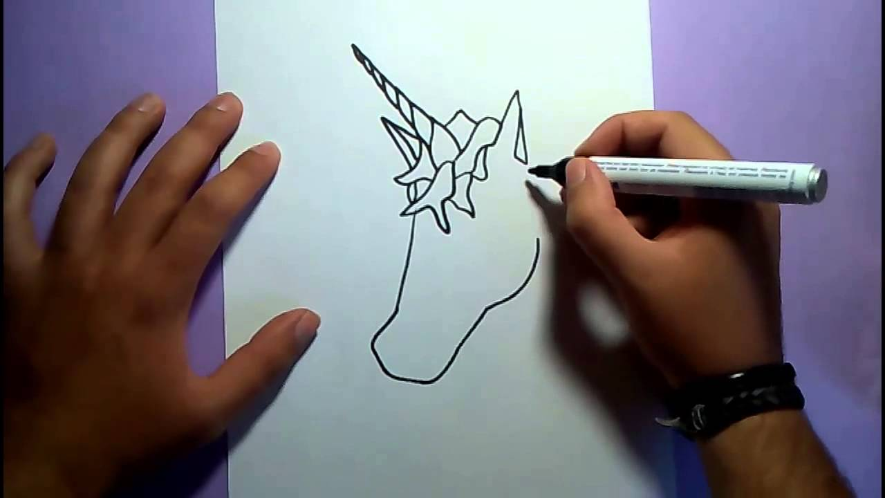 Como dibujar un unicornio paso a paso  How to draw a unicorn