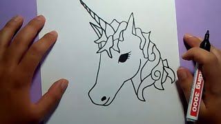 Como dibujar un unicornio paso a paso | How to draw a unicorn