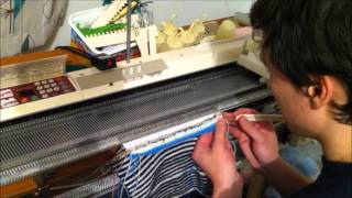Cut and Sew Industrial Neckline on a Japanese Knitting Machine