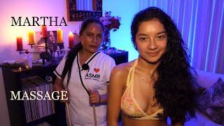 MARTHA♥PANGOL, Massage with Aloe Vera, Facial Mask, ECUADORIAN  BODY ASMR MASSAGE, HAIR BRUSHING