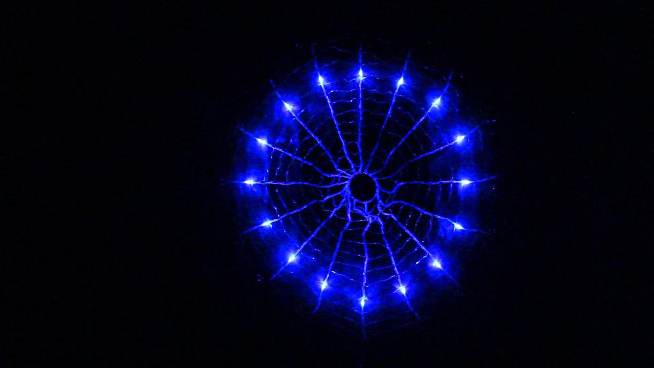 192 led multi colour circle net christmas lights with spider web function 90cm - Led Net Christmas Lights