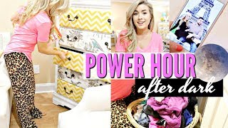 AFTER DARK POWER HOUR | RELAXING CLEAN WITH ME | SPEED CLEANING | LoveMeg