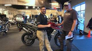 2018 Triumph Tiger 800 XCa in Korosi Red Delivery by Nate Jennings @ Frontline Eurosports