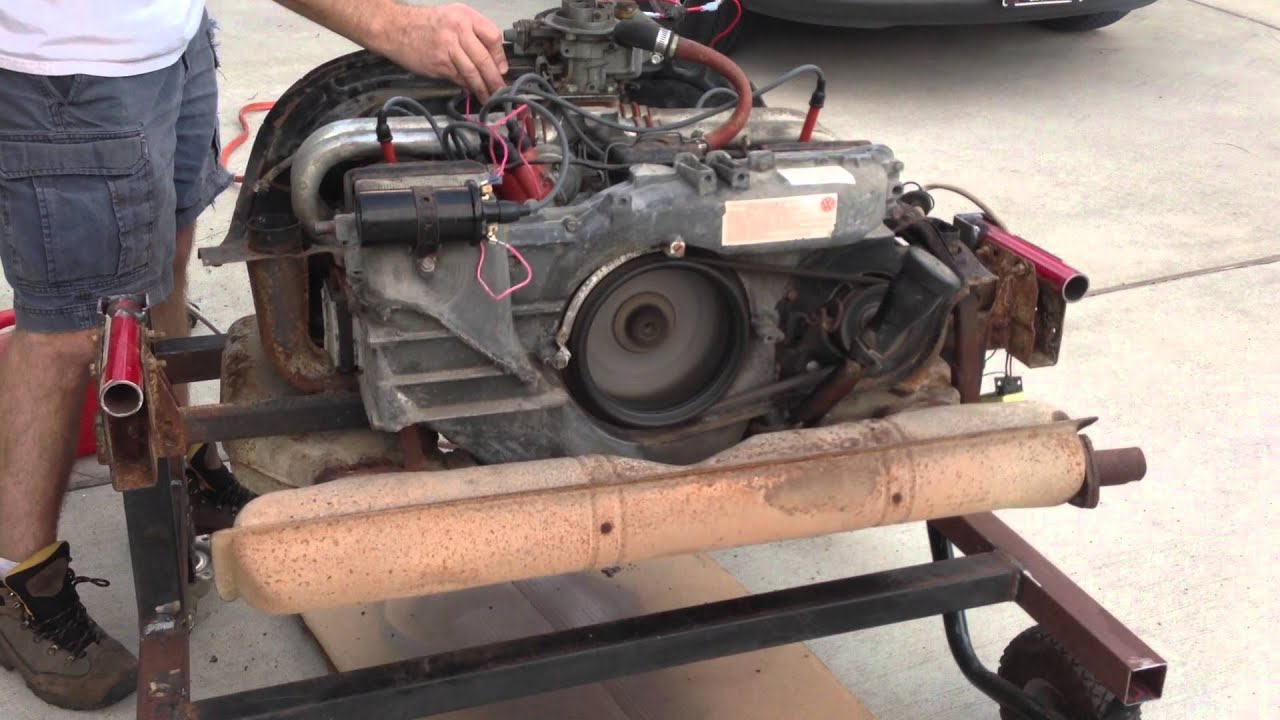1974 Vw Type 4 1 8l Bus Engine Running Youtube