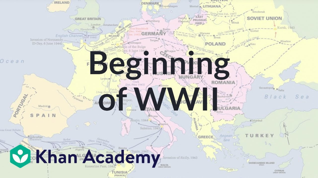 beginning of world war ii the 20th century world history khan academy