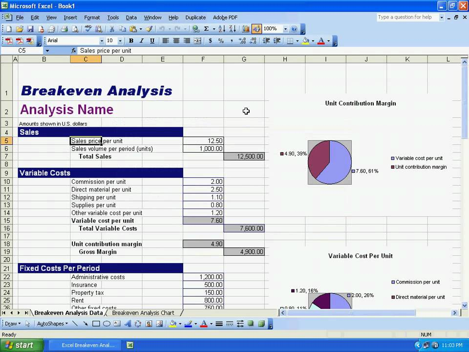 Sobolsoft com How To Use Excel Breakeven Analysis Template Software