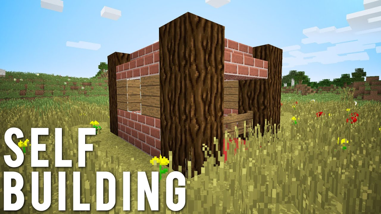 Minecraft: The Self Building House [No Command Blocks]