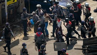 Myanmar police fire rubber bullets, tear gas to disperse protesters in Yangon
