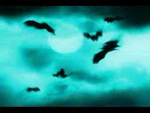 Spooky Sky With Flying Bats