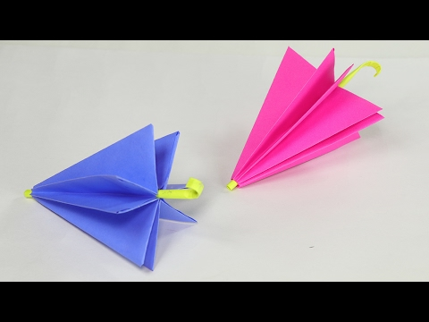 Origami for Kids - Paper Umbrella DIY Tutorial