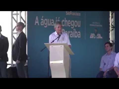 Discurso do governador Ricardo Coutinho na inauguração da transposição