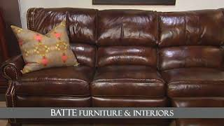 Batte Furniture: Fall Leather Entertaining