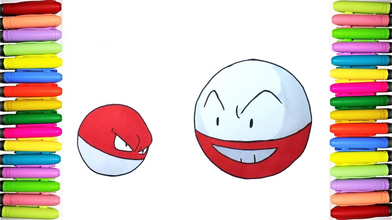 Pokemon Coloring Pages   Voltorb And Electrode