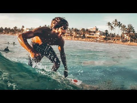 Sunset Surfing at Hikkaduwa Beach, Sri Lanka - GoPro 5