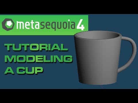 【メタセコイア】 Metasequoia 4 to MMD Beginner Tutorial: Making a Cup