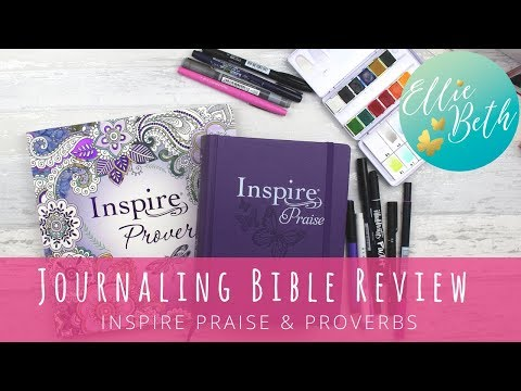 Journaling Bible Review - Inspire Praise, And Proverbs Colouring Book.