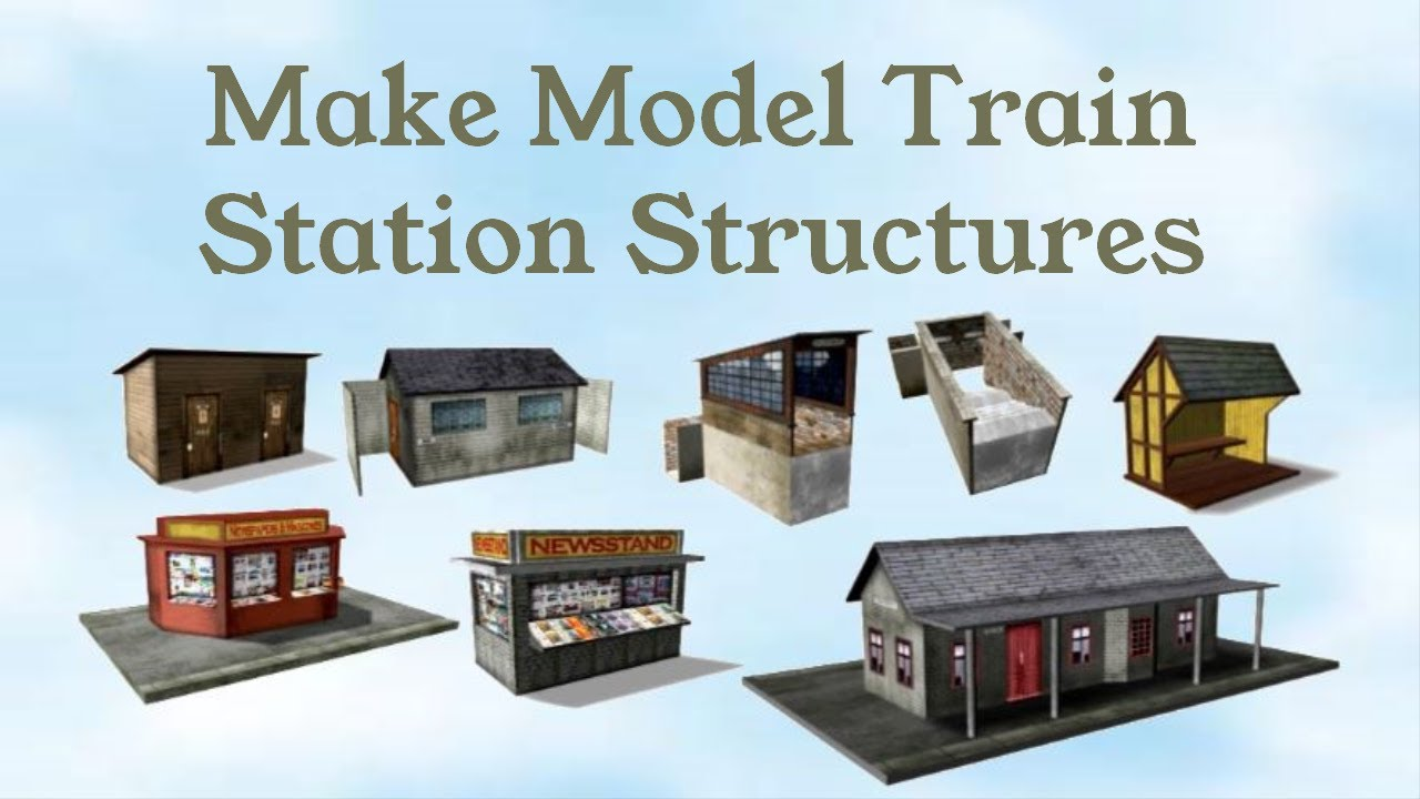 This is a picture of Printable Model Railroad Buildings intended for downloadable